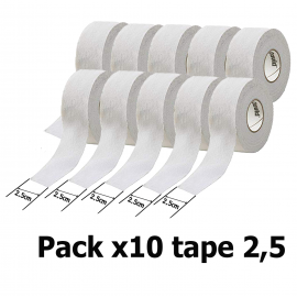 Pack x10 Tape McDavid 2,5cmclubs