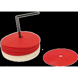 Pack 24 conos planos de goma - Tienda balonmano