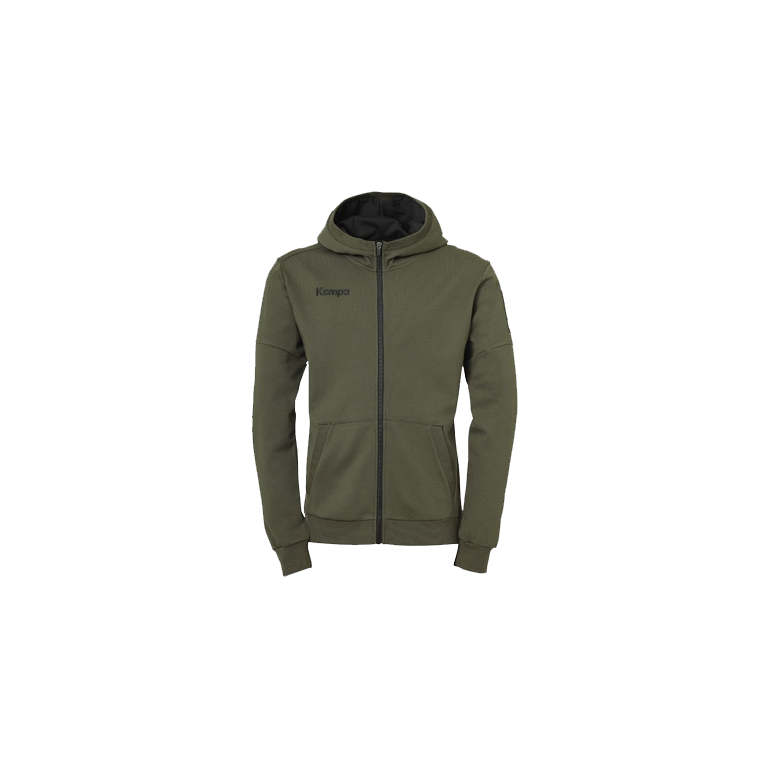 Kempa Laganda zip hoody deep green - Handball Shop